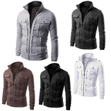 Fashion Winter Jacket Men Casual Hooded Thick Padded Jacket Zipper Slim Outwear Cotton down Coat Warm winter jackets mens - CelebritystyleFashion.com.au online clothing shop australia