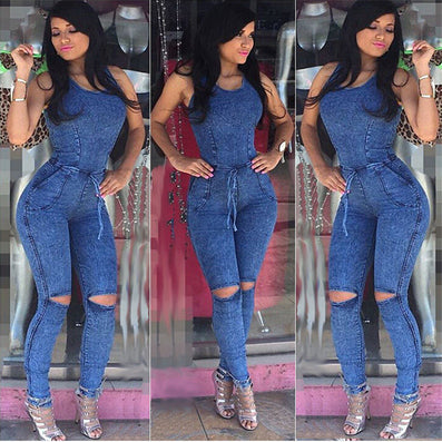 New Arrival Women Jumpsuits Jeans European Style Playsuit Women Jumpsuit Denim Overalls Sexy Rompers Girls Jeans S-L Bodysuit - CelebritystyleFashion.com.au online clothing shop australia