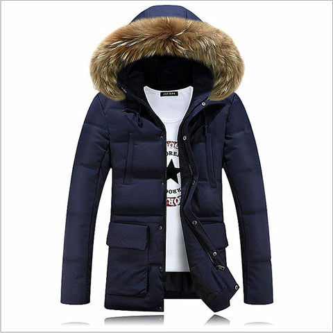 Brand Winter New Men's Solid Long Parkas Fashion Padded Streetwear Casual Overcoat Winter Jacket Men Suit For -20 - CelebritystyleFashion.com.au online clothing shop australia