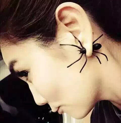 Halloween Gifts 3D Spider Stud Earrings Fashion Punk Retro Big Black Spider Insect Pierced Earring For Women Christmas Gift - CelebritystyleFashion.com.au online clothing shop australia