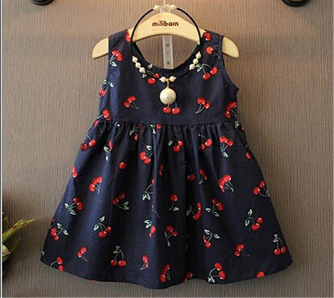 2-11years Baby Girl Dress Clothes Floral Print Girls Dress Summer Costume Casual Clothes - CelebritystyleFashion.com.au online clothing shop australia