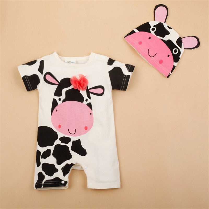 a49547f5c934 Baby Boy Rompers Summer Baby Girl Clothing Sets Short Sleeve Newborn Baby  Clothes Roupa Bebes Infant