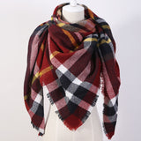 Fashion Brand Designer Cashmere Triangle Pink Scarf Winter Women Shawl Pashmina Cape Blanket Plaid Foulard - CelebritystyleFashion.com.au online clothing shop australia