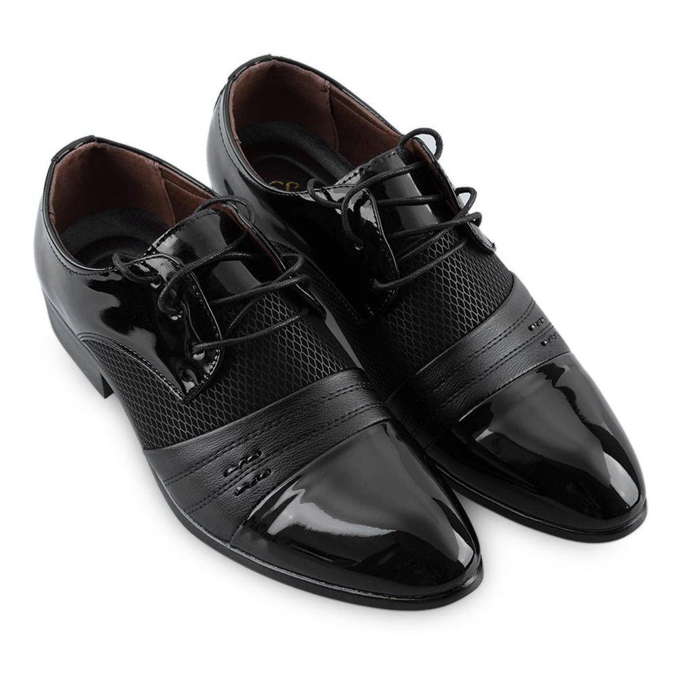 Black / 10Classical Men Business Shoes Man Luxury Leather Derby Shoes Men's Flat Oxfords Casual Shoe Black/Brown Footwear Male Shoes
