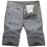 England Style Casual Shorts Men Cool Summer Knee Length Solid Slim Fashion Short Pants - CelebritystyleFashion.com.au online clothing shop australia