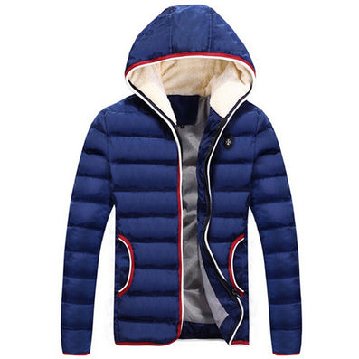 New Spring Winter Jacket Men Brand High Quality Down Cotton Men Clothes Fashion Warm Mens Jackets Coats Black Plus Size 4XL - CelebritystyleFashion.com.au online clothing shop australia