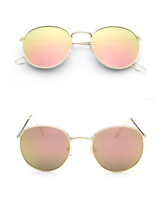 Vintage Round Sunglasses Women men female brand Metal Frames Mirror Lenses Sun Glasses For women retro Male oculos de sol - CelebritystyleFashion.com.au online clothing shop australia