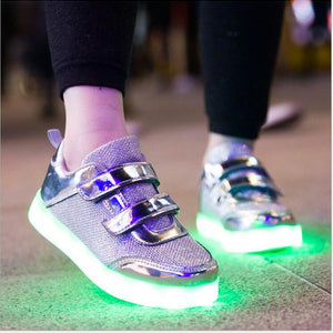 8 Color Kids Sneakers Fashion Charging Luminous Lighted Colorful LED lights Children Shoes Casual Flat Girls Boy Shoes Eur28-35 - CelebritystyleFashion.com.au online clothing shop australia