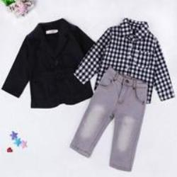 Fashion kids clothes suit boys clothes jackets shirts and jeans 3 pcs one set children clothing fashion winter suits for boys - CelebritystyleFashion.com.au online clothing shop australia