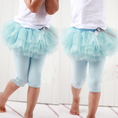 Kids Baby Girls Culottes Leggings Gauze Pants Party Skirts Bow Candy Tutu Dress - CelebritystyleFashion.com.au online clothing shop australia