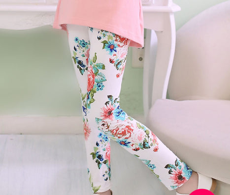 7f02c676e3c9d girl pants printing Flower girls leggings Toddler Classic Leggings 2-14Ybaby  girls leggings kids leggings