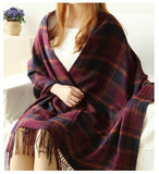 Fashion Wool Winter Scarf Women Spain Desigual Scarf Plaid Thick Brand Shawls and Scarves for Women - CelebritystyleFashion.com.au online clothing shop australia