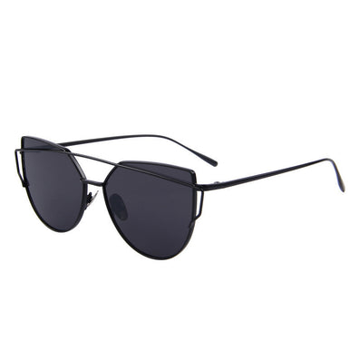 MERRY'S Fashion Women Cat Eye Sunglasses Classic Brand Designer Twin-Beams Sunglasses Coating Mirror Flat Panel Lens S'7882 - CelebritystyleFashion.com.au online clothing shop australia