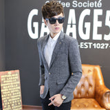 Autumn New Men Blazer Fashion Slim casual blazer for Men Brand Mens suit Designer jacket outerwear men 3 colors M~XXXXXL - CelebritystyleFashion.com.au online clothing shop australia