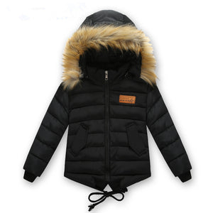 Children's clothing male winter cotton-padded jacket down cotton wadded jacket thickening boys girls thicken Hooded coat - CelebritystyleFashion.com.au online clothing shop australia