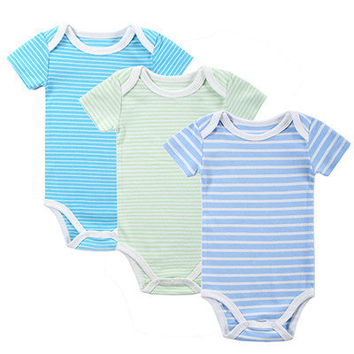 dce12a7f5556 New 3PCS Baby Boy Rompers Baby Clothing Set Summer Cotton Baby Girl ...
