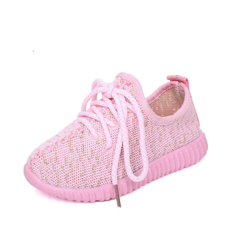 Autumn Candy Colors Children Shoes For Kids Mesh Breathable Sport Sneakers Boys Teenager Girl Running Shoes School TrainersPinkCELEBRITYSTYLEFASHION