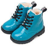 children martin boots girls boys winter shoes kids rain boots PU Leather Kids Sneakers - CelebritystyleFashion.com.au online clothing shop australia