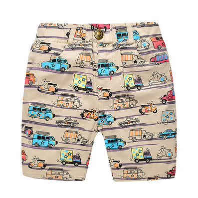 Casual Boys Print Shorts Kids Summer Clothes Cartoon Cars Elatisc Waist Pants For 2~7Y Boy Children Boys Beach Shorts CI030 - CelebritystyleFashion.com.au online clothing shop australia