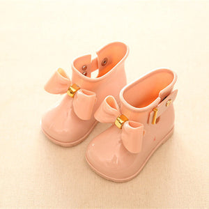 Kids baby girls Rain Boots Warm Beauty Bow Rainboots Fashion Rubber Shoes Toddler Kids Jelly shoes - CelebritystyleFashion.com.au online clothing shop australia