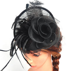 Women's Pretty Fascinator Hat Headbands Cocktail Wedding Church Headpiece - CelebritystyleFashion.com.au online clothing shop australia