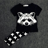 Baby&Kids Fox Cotton Clothing Sets Newborn Toddler Baby Girl Boy 2 Pcs Outfits Set Costume Summer Clothes BodySuit T-shirt Pants - CelebritystyleFashion.com.au online clothing shop australia