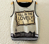 Fashion Women Sleeveless Sky Print Crop Top Cropped Tops Casual Top Fitness Women Vest Tank Tops - CelebritystyleFashion.com.au online clothing shop australia