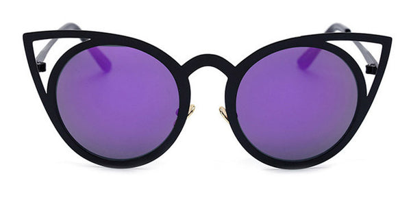475871012f9 Women Round Cat eye Sunglasses UV400 High Quality Metal Frame Colorful  Glasses