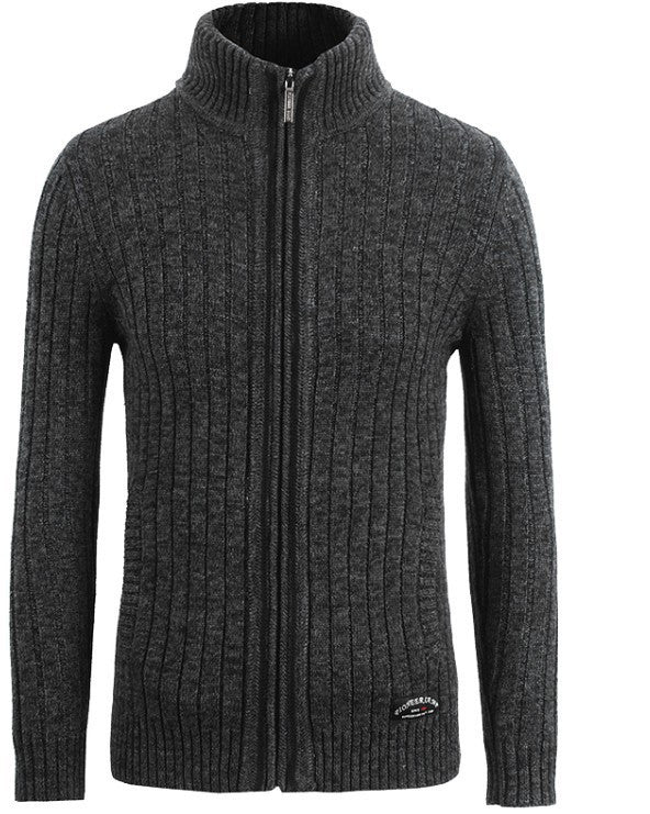 Dark Grey / XXLcardigans men sweaters new knitwear zipper cardigan Top quality brand clothing fashion male christmas coat