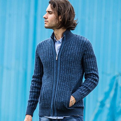 Cotton Blue Black / XXLcardigans men sweaters new knitwear zipper cardigan Top quality brand clothing fashion male christmas coat