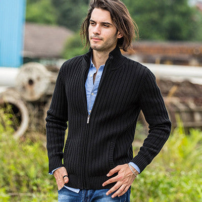 Cotton Black / XLcardigans men sweaters new knitwear zipper cardigan Top quality brand clothing fashion male christmas coat
