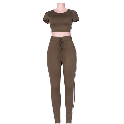 Summer Casual Jumpsuit Romper 2 piece set Outfits Round Neck Hooded Bodycon Short Sleeve Sexy Jumpsuits Playsuit Wear - CelebritystyleFashion.com.au online clothing shop australia