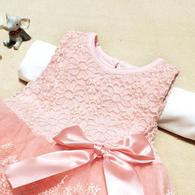 lace flower cute baby dress Party Wedding Birthday baby girls dresses Candy colors princess infant dress Spring summer 0-2 - CelebritystyleFashion.com.au online clothing shop australia