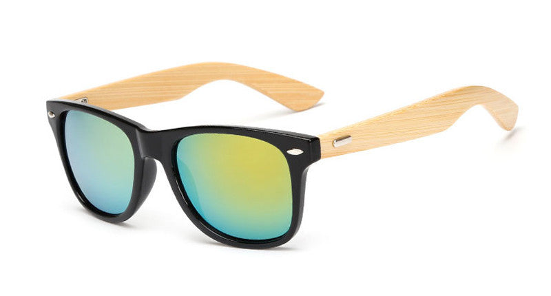 wood KP1501 C716 color Wood Sunglasses Men women square bamboo Women for women men Mirror Sun Glasses Handmade