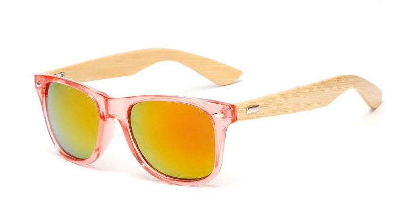 wood KP1501 C1216 color Wood Sunglasses Men women square bamboo Women for women men Mirror Sun Glasses Handmade