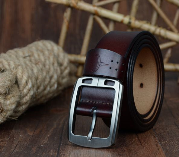e9a605093c30 100% cowhide genuine leather belts for men brand Strap male pin buckle –  CELEBRITYSTYLEFASHION