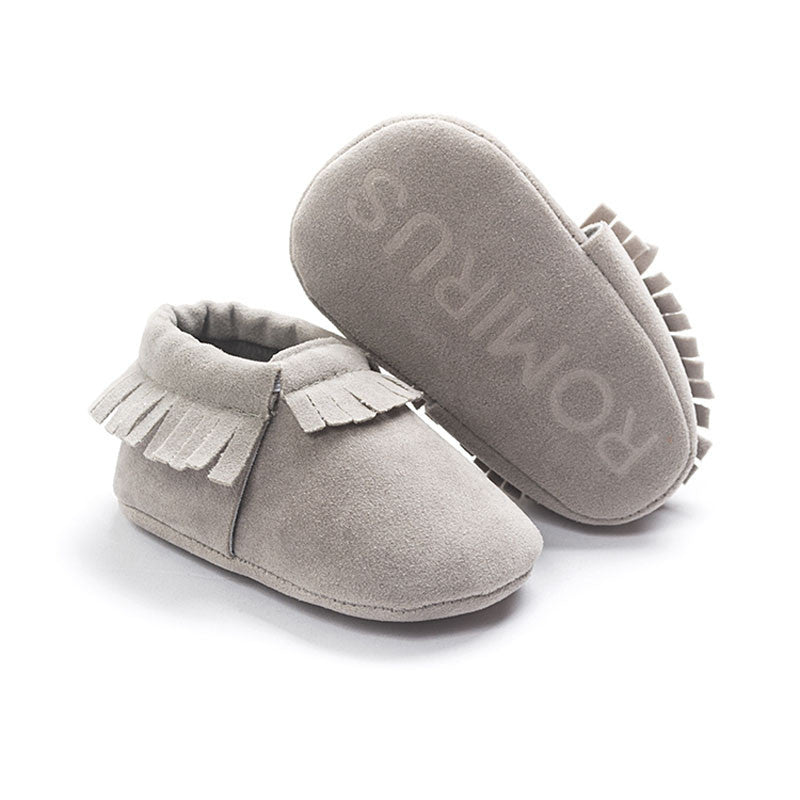 Model 5 / 0-6 MonthsNew PU Suede Leather Newborn Baby Boy Girl Baby Moccasins Soft Moccs Shoes Bebe Fringe Soft Soled Non-slip Footwear Crib Shoe