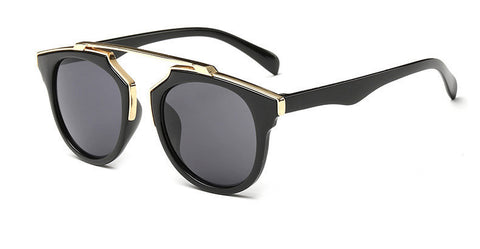 High quality women brand designer sunglasses round mirrored shades cat eye glasses ss206 - CelebritystyleFashion.com.au online clothing shop australia