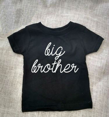 Big Brother Letter Print Kids t shirt Boy Girl Shirt Casual For Children Toddler Funny Hipster Top Tees Black Gray Gift BZ203-11 - CelebritystyleFashion.com.au online clothing shop australia
