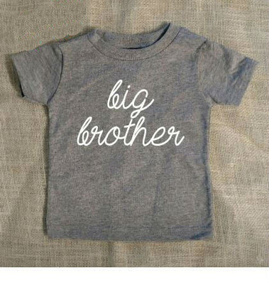 Big Brother Letter Print Kids t shirt Boy Girl Shirt Casual For Children  Toddler Funny Hipster 62b60a94c