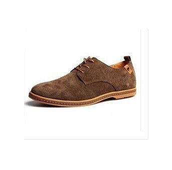 Men Flats shoes 38-48 Suede European style genuine leather Shoes Men's oxfords california casual Loafers - CelebritystyleFashion.com.au online clothing shop australia