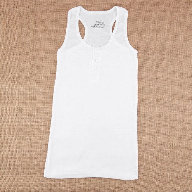 White / One Size1Pc Ladies Multicolor Long Sleeveless Bodycon Temperament Cotton Long T-shirt Tank Top Women Vest Tops regatas feminino