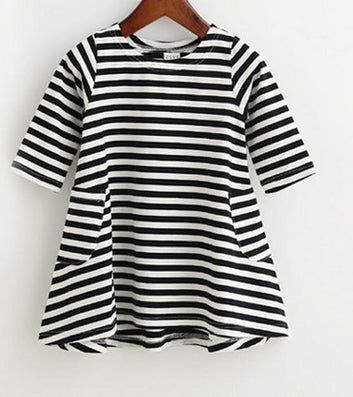 New autumn girls dresses stripe kids dress children casual long sleeve dress children dresses girls - CelebritystyleFashion.com.au online clothing shop australia