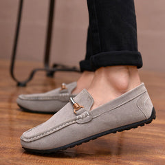 Men Casual Shoes Fashion Leather Loafers Moccasins Slip On Flats Male suede Shoes Spring autumn New style - CelebritystyleFashion.com.au online clothing shop australia