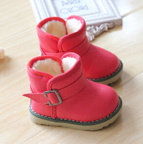 aebf73a6b1f Winter Children Snow Boots Plush Boy Girls Shoes Waterproof Kids Boots  Insoles 13-18CM