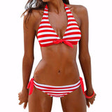 Sexy Bikinis Women Swimsuit Swimwear Halter Top Plaid Brazillian Bikini Set Bathing Suit Summer Beach Wear Biquini - CelebritystyleFashion.com.au online clothing shop australia