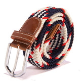 31 Colors Men Women's Canvas Plain Webbing Metal Buckle Woven Stretch Waist Belt - CelebritystyleFashion.com.au online clothing shop australia