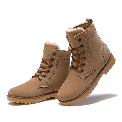 High Quality Women Boots Winter Casual Brand Warm Shoes Men Unisex Men Boots Leather Plush Fur Fashion Boots Shoes Woman - CelebritystyleFashion.com.au online clothing shop australia