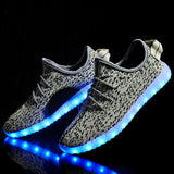 New 7 Colors luminous shoes unisex LED glow shoe men & women fashion USB rechargeable light led shoes for adults led shoes - CelebritystyleFashion.com.au online clothing shop australia