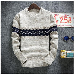 winter pullover sweater brand knitting long sleeve O-neck Slim Korean fashion clothes men sweater - CelebritystyleFashion.com.au online clothing shop australia